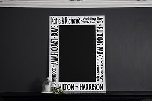 Personalised Wedding Keepsake Chalkboard - signs
