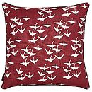 Red Geese Print Cushion