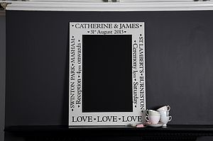 Personalised Chalkboard - mother's day gifts