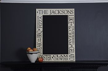 Personalised Kitchen Chalkboard