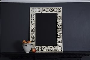 Personalised Kitchen Chalkboard - storage & organisers