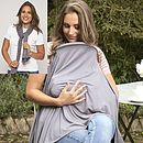 Milkscarf Breastfeeding cover (dove grey)