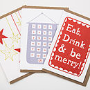 Pack Of Six Mixed Christmas Cards #Three