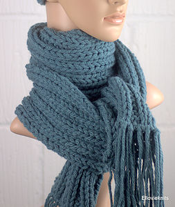 Hand Knit Scarf - hats, scarves & gloves