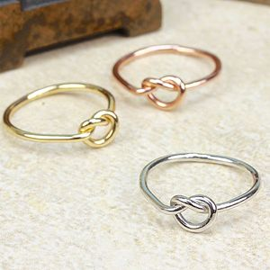 Set Of Three Love Knot Rings - rings