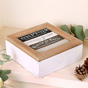 Bistrot De Paris Tea Storage Box - boxes, trunks & crates