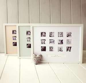 Personalised First Year Photo Frame - picture frames