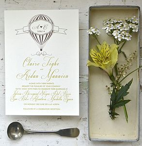 Fly Away With Us Wedding Stationery - invitations
