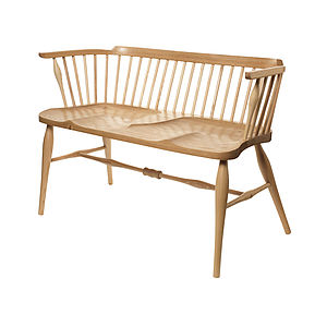 Oak Windsor Love Seat - furniture delivered for christmas