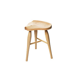 Maple Saddle Stool - furniture