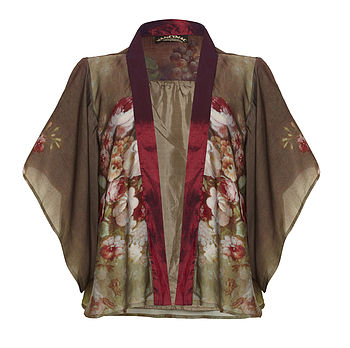 Jacket In Rembrandt Rose Print