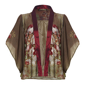 Jacket In Rembrandt Rose Print - jackets
