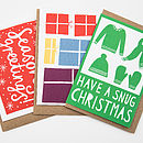 Pack Of Six Mixed Christmas Cards #Five