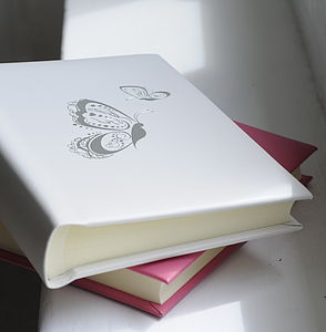 Butterfly Leather Photo Album - photo albums