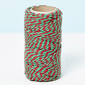Christmas Bakers Twine 20 Metre Spool
