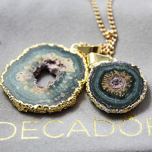 Amethyst Aged Bloom Stalactite Pendant - necklaces & pendants