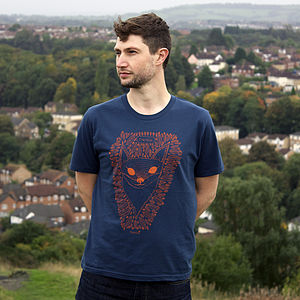 Organic Men's 'Frankie The Fox' T Shirt - men's fashion
