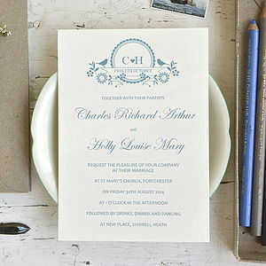Lovebird Wedding Stationery