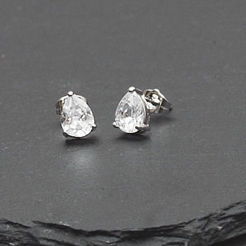 Pear Shaped Crystal Earrings