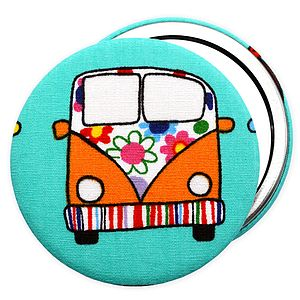 ' Campervan ' Pocket Mirror: Lots Of Colours