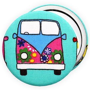''Campervan'' Pocket Compact Mirror