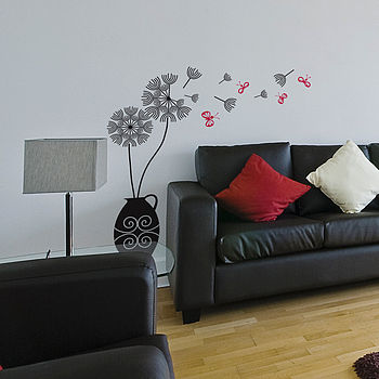 Dandelion Blowing In The Wind Wall Sticker