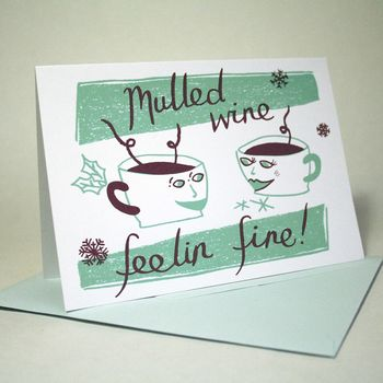 Mulled Wine Hand Printed Card