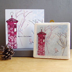 Christmas Robin And Postbox Design Gift Set - cards & wrap