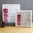 Christmas Robin And Postbox Design Gift Set