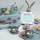 Rosebud Tea Set With Personalised Invitations
