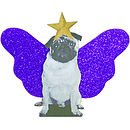 Pug Christmas Tree Topper