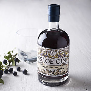 Personalised Sloe Gin - our favourite leaving gifts