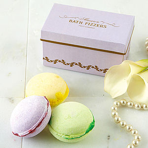Gift Boxed Macaron Bath Fizzer Set - mother's day gifts