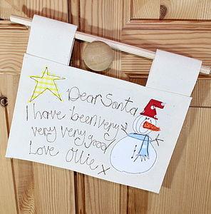 Personalised Dear Santa Sign