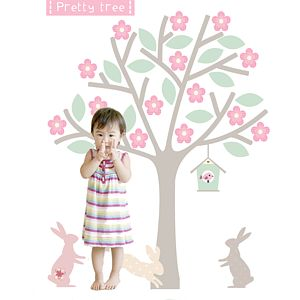 Blossom Tree Fabric Wall Sticker - wall stickers