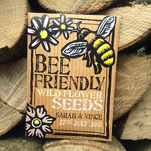 Pack Of 20 Personalised Bee Friendly Wedding Favours - wedding favours