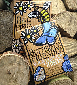 Two Pack Of Bee And Butterfly Friendly Seeds - prepare for spring