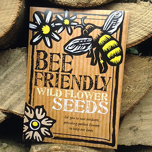 Bee Friendly Wild Flower Seeds - wedding favours
