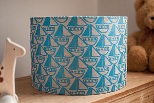 Boat Linen Lampshade - dining room