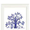Personalised Woodland Tree Print