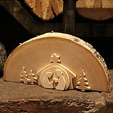 Traditional Wooden Nativity Scene - christmas decorations