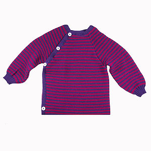 Wrap Over Organic Merino Jumper - clothing
