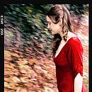 Sibi Dress In Deep Red Velvet