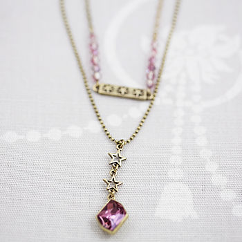 Star Necklace With Swarovski Crystal
