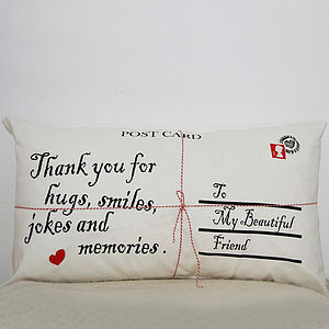 Personalised Postcard Cushion Cover - cushions