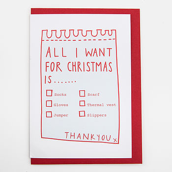 'All I Want For Christmas…' Card