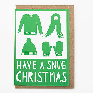 'Snug Christmas' Card - christmas sale