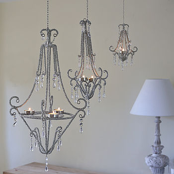 Beaded Tealight Chandeliers