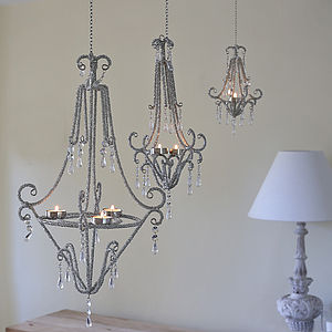 Beaded Tealight Chandeliers - candles