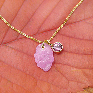 Pink Sapphire Flower Necklace 18ct Gold - necklaces & pendants